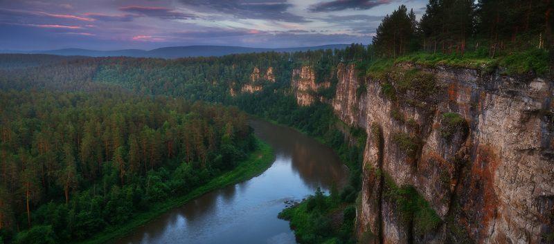 урал, горы, уральскиегоры, ай, айскиепритесы Вечер на реке Айphoto preview
