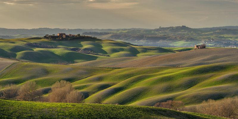 тоскана, италия, italy, tuscany, valdorcia, зеленые поля тосканы, asciano Вечер в Тосканеphoto preview