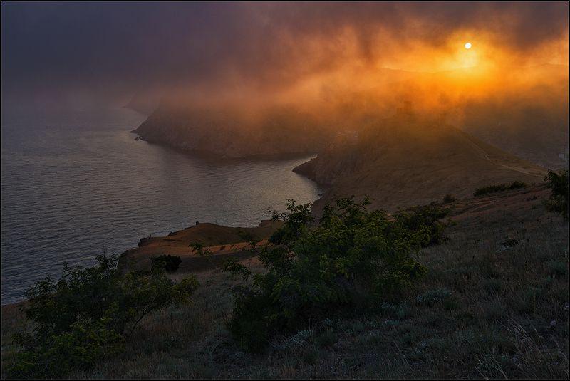 крым, балаклава, вечер, туман, солнце *  *  *photo preview