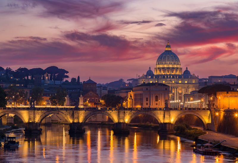 rome, italy, vatican, city, sunset,  Vaticanphoto preview