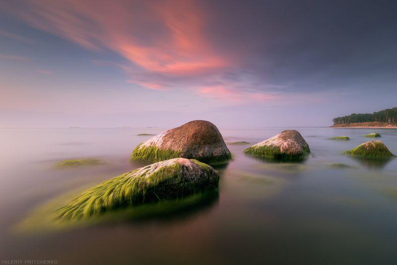море, пейзаж, природа, закат, вечер, sunset, nature, seascape, sea Спокойствие летней Балтики.photo preview