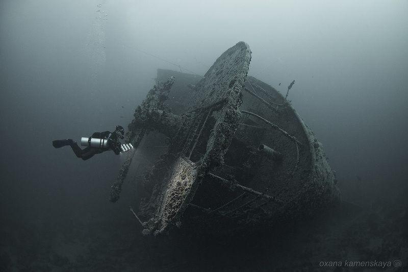 Thistlegorm wreck diving underwater SS Thistlegorm #6. Корма.photo preview