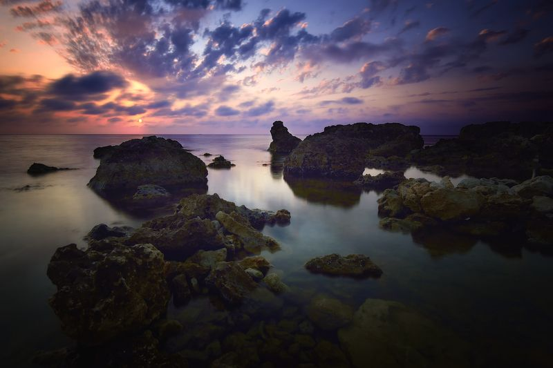 крым, черное море, природа, море, лето, вечер, закат, свет Закат под Севастополемphoto preview