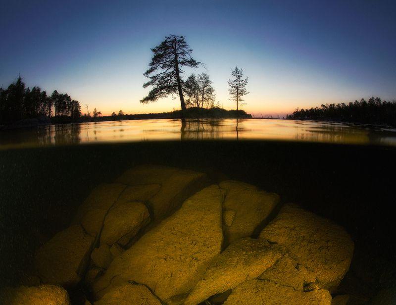 карелия, топозеро Вечер на Топозереphoto preview