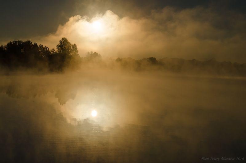 пейзаж, река, днепр, осень, красиво, октябрь, вода, рассвет, деревья, украина Когда время удивлятьсяphoto preview