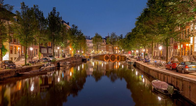amsterdam, амстердам, мост, канал, вечер Амстердам, вечерphoto preview