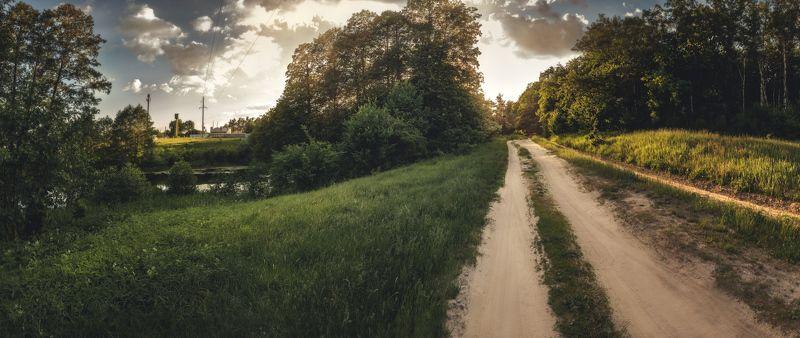 панорама, лето, вечер, закат ***photo preview