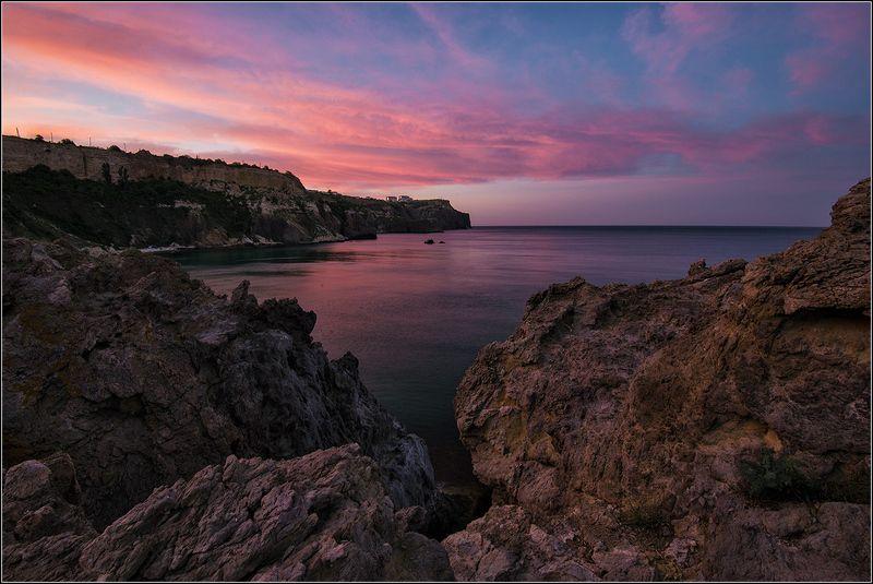 крым, севастополь, утро, море, скалы Рассвет на Фиолентеphoto preview
