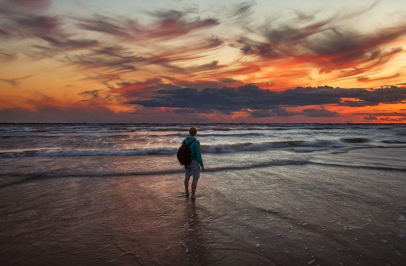 пейзаж, диалог, закат, море, краски, цвет, импрессионизм Достигая мира импрессионистовphoto preview
