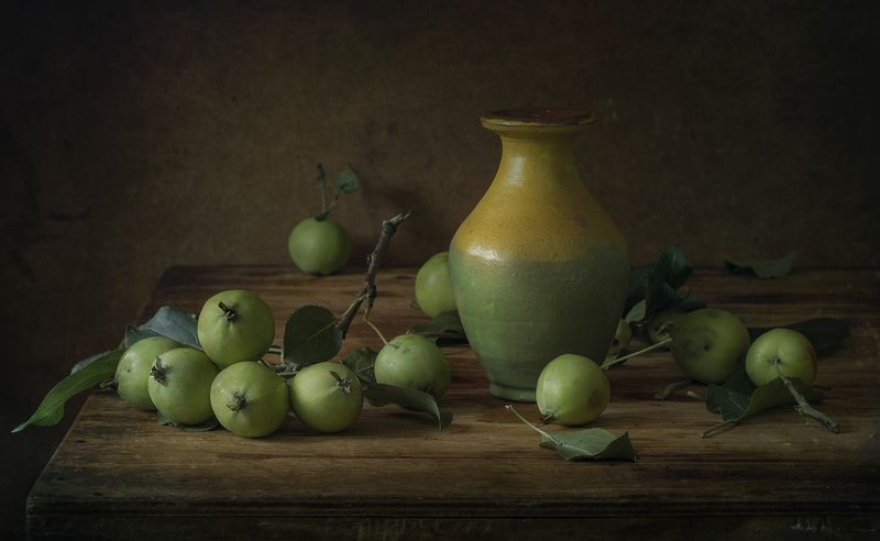 натюрморт,зелёные яблоки Яблокиphoto preview