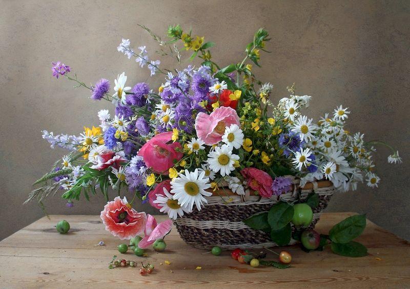 натюрморт, цветы, марина филатова, лето, летние цветы Цветами лето радужно манит…photo preview