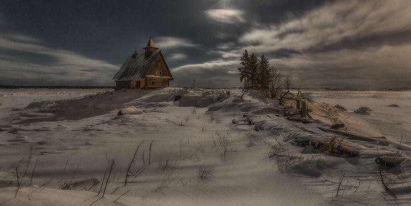 рабочеостровск, остров, белое море Ночь перед Рождеством.photo preview