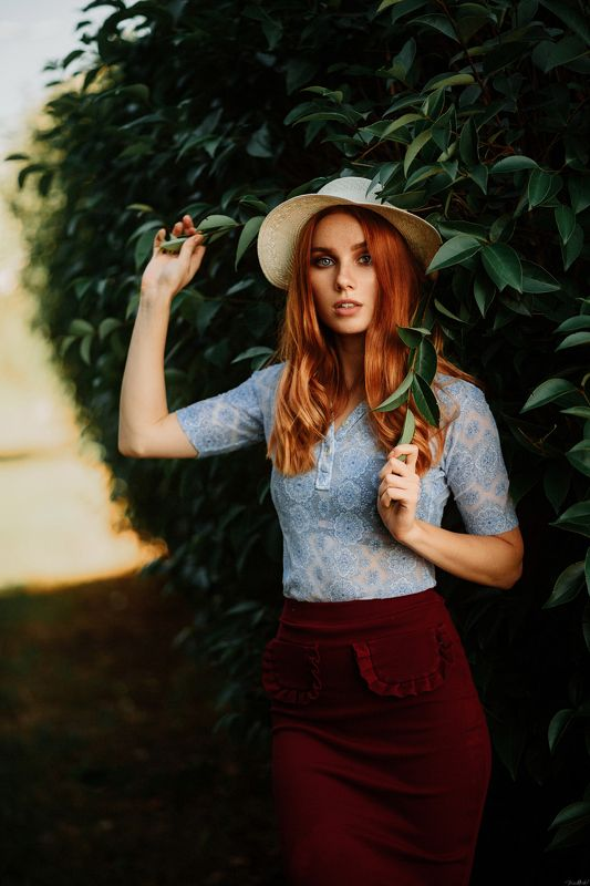 portrait, 85mm, art, beautiful, girl, beauty, face, pretty, eyes, redhead, sunset, green, nikon Christinephoto preview