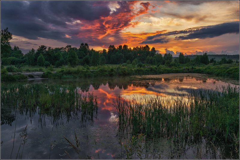 нижегородская область, вечер, пруд, закат солнца Вечер на прудуphoto preview