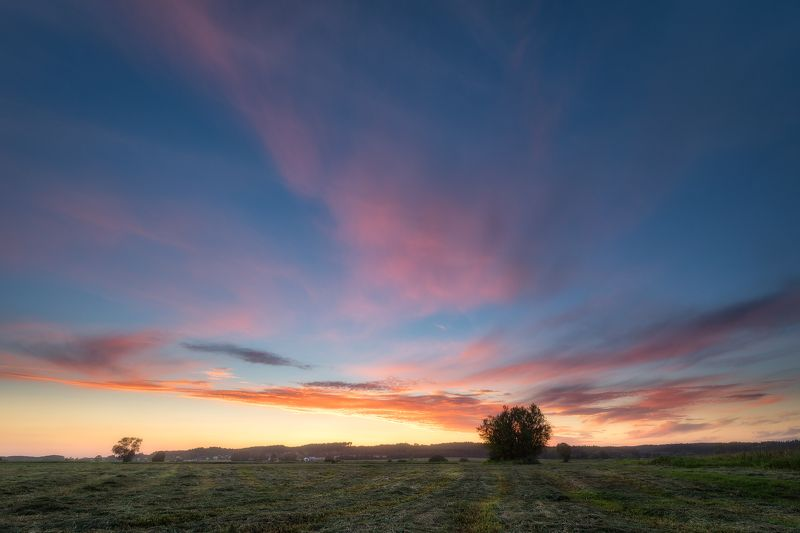 poland podlasie sky clouds sunset dawn outdoor summer mood Pastel skies...photo preview