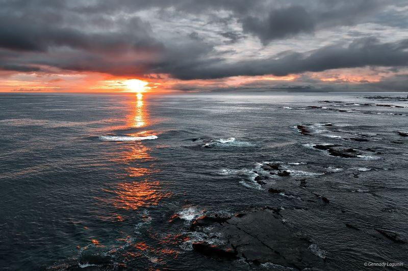 остров беринга, тихий океан, bering island, pacific ocean, sunset Там за океаномphoto preview