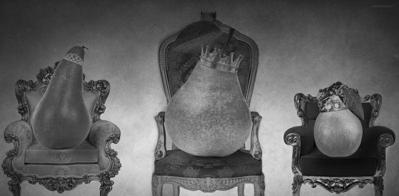груша, ч\\\\б, трон На золотом крыльце сидели...photo preview
