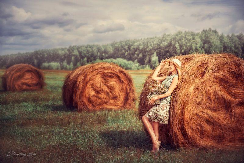 девушка, портрет, сено, лето, girl, portreit, summer, hay photo preview
