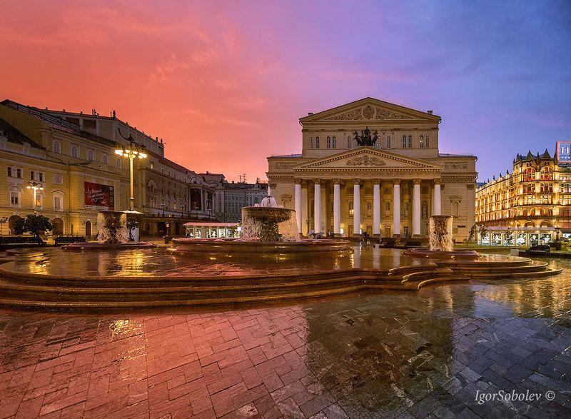 большой театр, москва, закат, bolshoi theater, moscow, sunset Закат у Большого театраphoto preview