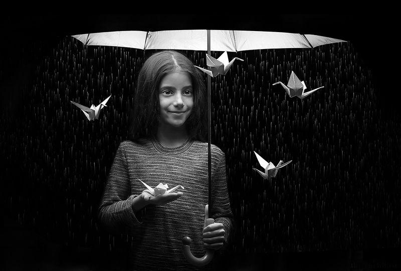 umbrella girl rain magic Under Umbrellaphoto preview