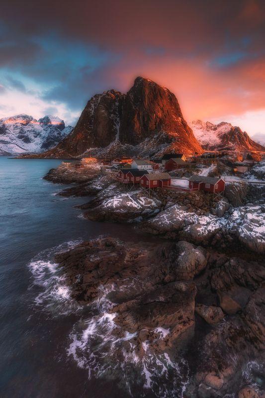lofoten,winter,light,sunrise Hamnoyphoto preview