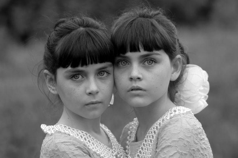 близнецы, девочки жанровый портрет вера шамраева Триптих Родная кровьphoto preview