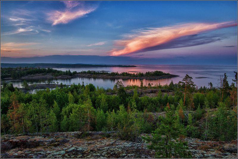 ладожское озеро, вечер, облако PRO ОБЛАКОphoto preview