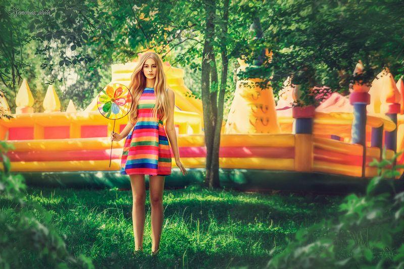 девушка, лето, желтый, оранжевый, girl, portreit, summer, yellow photo preview