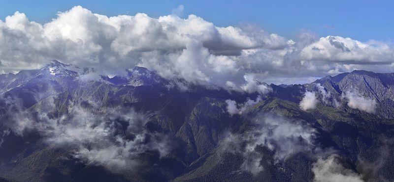 горы, облака Кавказские горыphoto preview