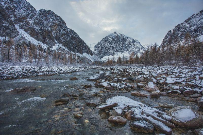 горы, река, снег Живая сила природы /  Altaiphoto preview