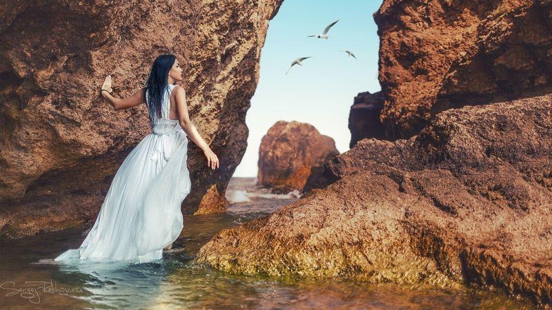 крым, азовское море, скалы, море, модель Крымские скалыphoto preview