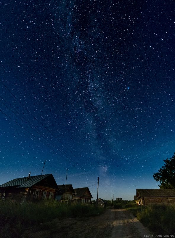 Млечный путь над деревней.photo preview