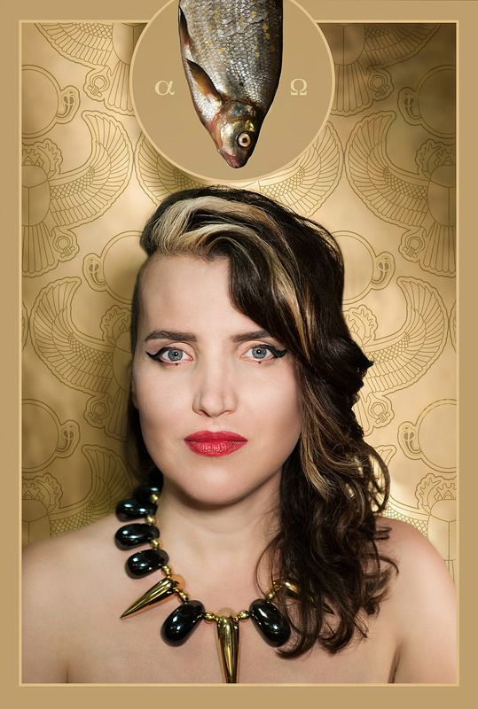 portrait, editorial, fantasy, woman, surrealism, egypt, fish, symbolism Dramaturg Gabriele Labanauskaite-Dienaphoto preview