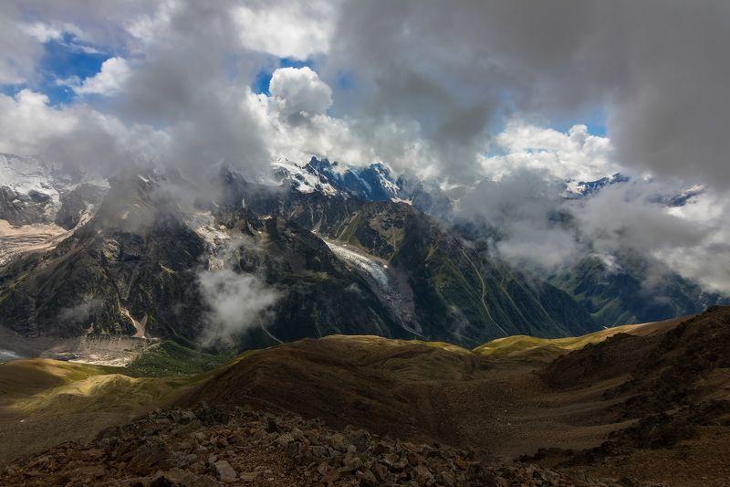 горы, облака, кавказ закружили облака...photo preview