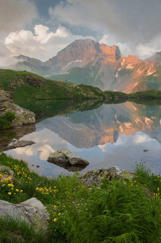 горы,вечер Вечер на Загеданских озёрахphoto preview