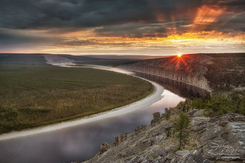 якутия, оленёк Восход на реке Оленёкphoto preview