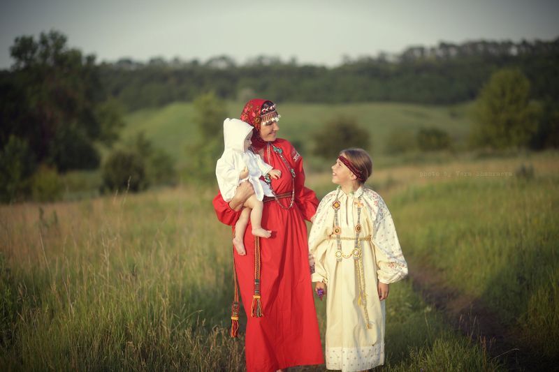 славянский стиль, семейное фото Вера шамраева Нянькиphoto preview