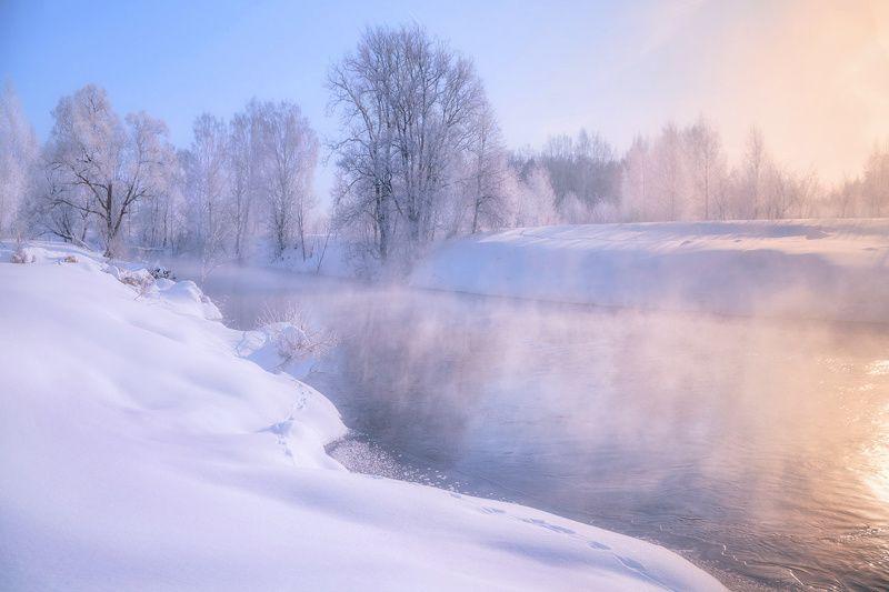 зима, река, туман, утро Утро у рекиphoto preview