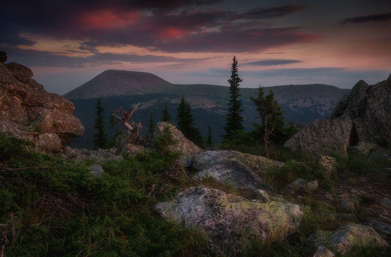 урал, горы, иремель, сукташ Вечер на Сукташеphoto preview