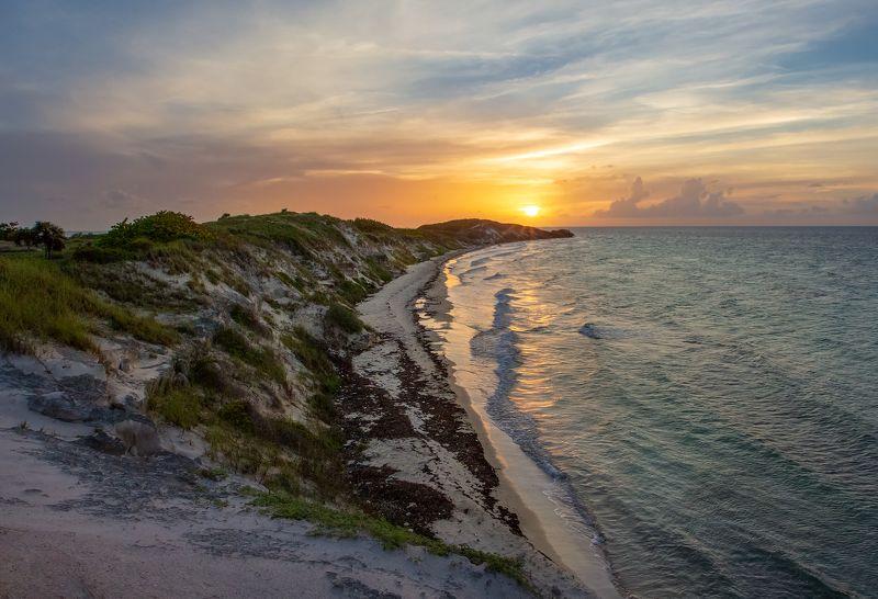 playa prohibida, dune, ocean, sunset, waves, reflection, sun, beach, clouds, дюна, океан, закат, волны, отражение, солнце, пляж, облака Playa Prohibidaphoto preview