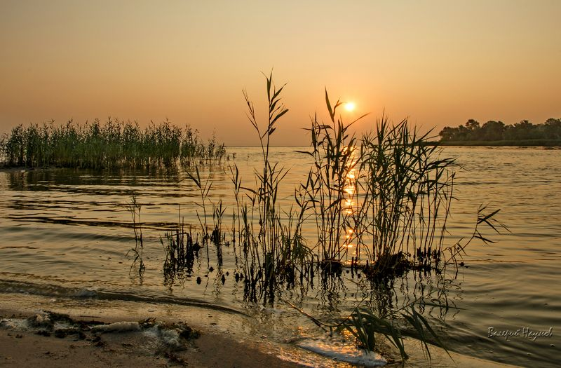 утро, рассвет, река, восход, июль Жаркое утро июляphoto preview