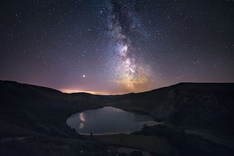 ireland, wicklow, landscape, milky way, stars, lough tay, lake, mountains, nature,  Milky Way above Lough Tay photo preview