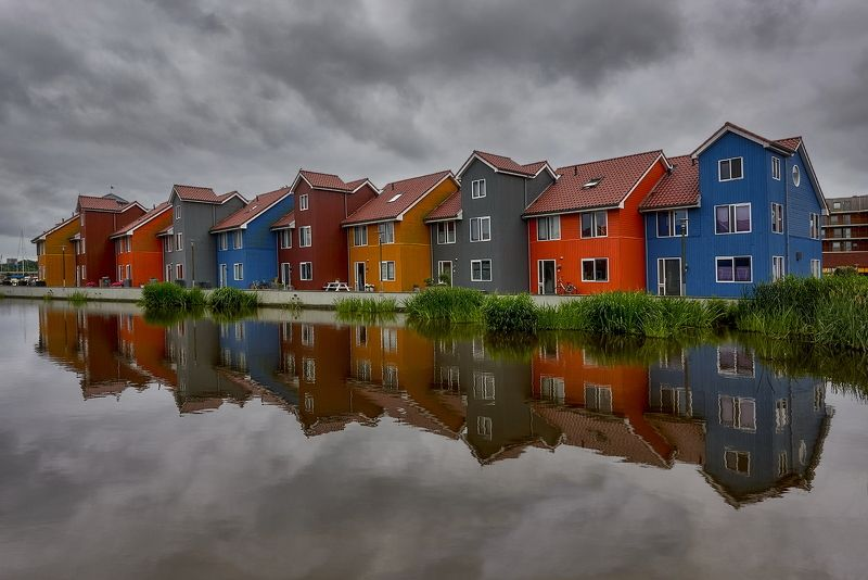 Groningen, charming town,  Netherlands, cloudy day On a cloudy dayphoto preview
