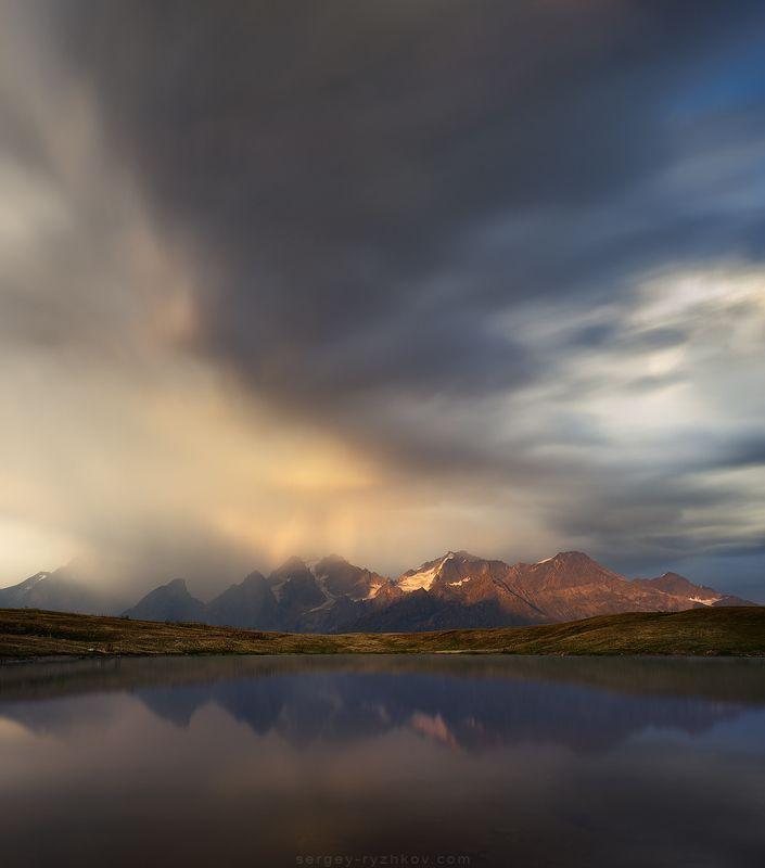 грузия, кавказ, корульди, озеро, горы, пейзаж, природа, шторм, storm, koruldi, caucasus, georgia, mountains, landscape, ***photo preview
