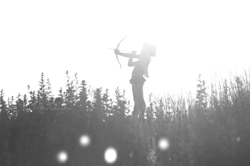 черно-белое , жанр, девочка ангел Ангел счастьяphoto preview