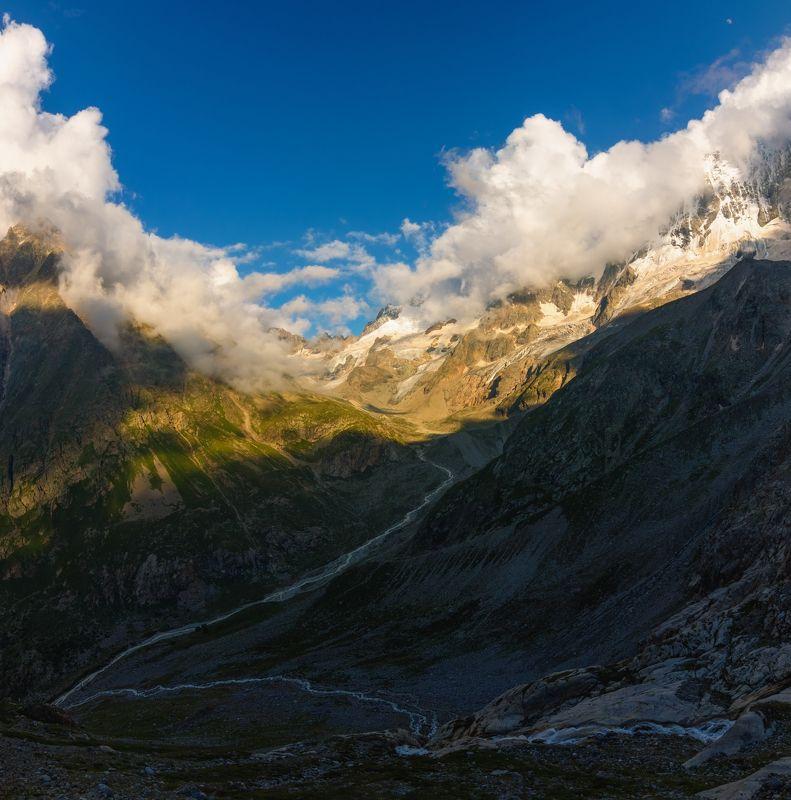 горы, облака, кавказ слияние рек...photo preview