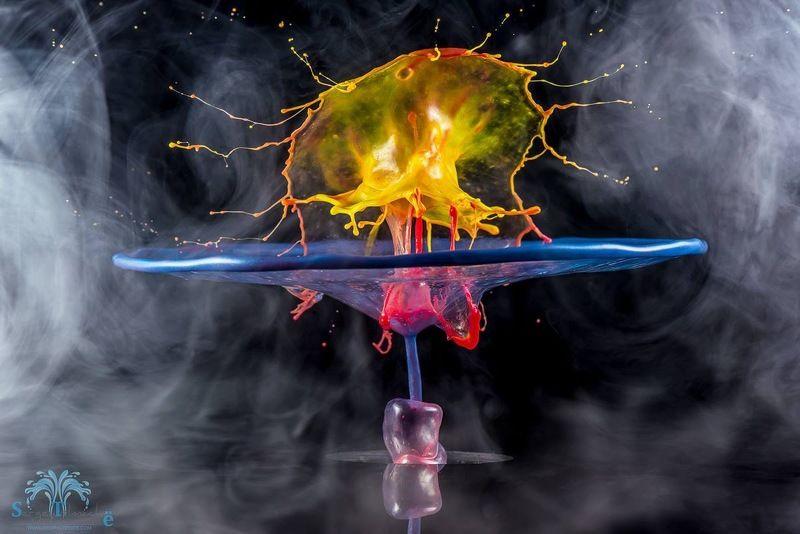 вода, капли, брызги, краски, капли, всплеск, сергейтолмачев, liquid, liquidart, art, water, drop, splash, liquid Бокалphoto preview