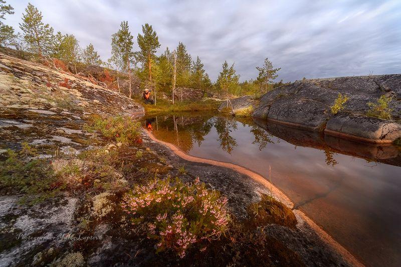 путешествие,пейзаж,ладога,карелия,утро,рассвет,камни,красота,россия,человек \