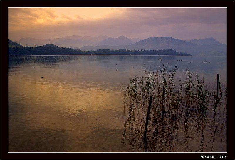 швейцария, кантон_люцерн, озеро, утро, тишина, лирика, paradox Тишина. Только рябь на воде ...photo preview