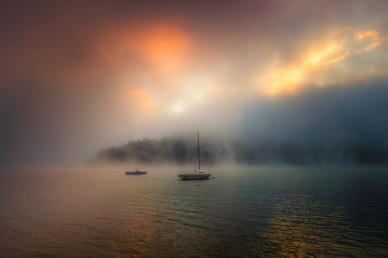 sunrise,boat,poland photo preview